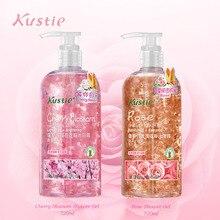 Kustie Роза вишня Отбеливание для тела натуральный парфюм цветок эссенция 720 мл+ 720 мл Романтический Аромат увлажняющие гели для душа