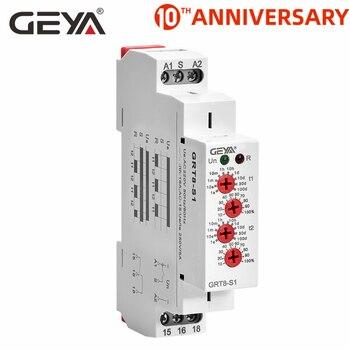 цена на Free Shipping GEYA GRT8-S Cycler Timer Relay 220V AC 16A  AC/DC12V-240V Electronic Repeat Relay Asymmetric Timer