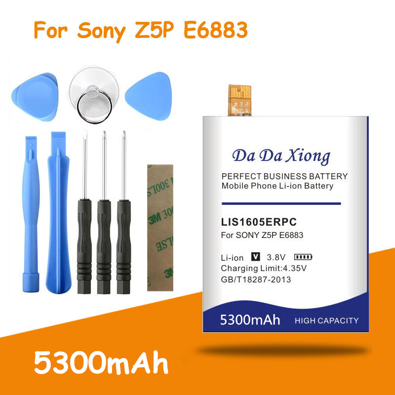 High Quality 5300mAh LIS1605ERPC Battery for <font><b>SONY</b></font> <font><b>Xperia</b></font> <font><b>Z5</b></font> Premium Z5P Dual E6883 <font><b>E6853</b></font> Replacement batteries + free tools image