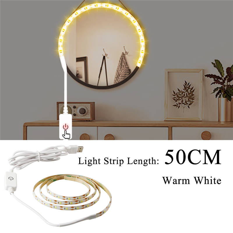 Hollywood Vanity Mirror Light Led Dimmable Makeup Table Dressing Lighting 1M-5M Bathroom Cabinet Beauty Lamp White Warm White