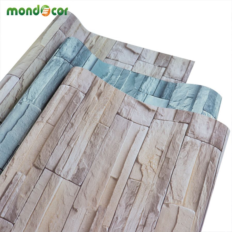 Stone Pattern Brick Wallpaper Stickers Home Decor For Living Room Bedroom Waterproof PVC Wall Papers Self Adhesive Contact Paper