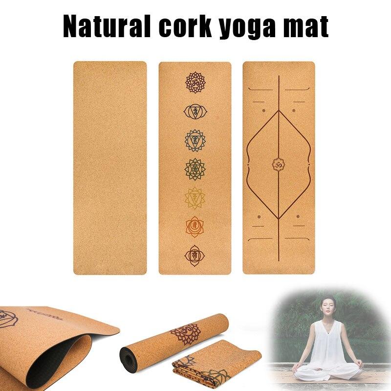 Cork TPE Non slip Yoga Mat 5mm Gymnastics Pad for Women Men Fitness Training MC889 in Yoga Mats from Sports Entertainment