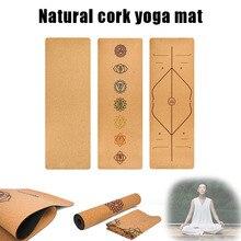 Cork TPE Non-slip Yoga Mat 5mm Gymnastics Pad for Women Men Fitness Training MC889