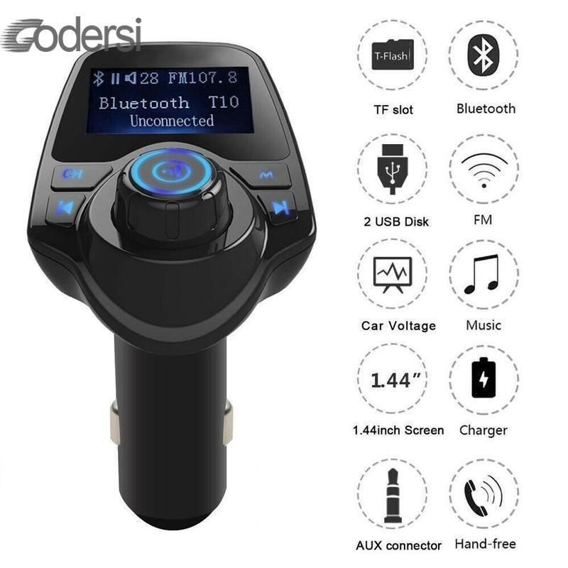 HandsFree Car Kit Wireless Bluetooth FM Transmitter FM Modulator Radio Adapter USB Charger MP3 Music Player For IPhone Phone