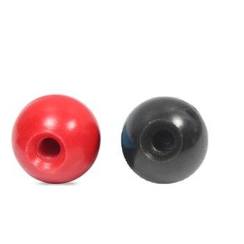 5 pçs/lote preto vermelho baquelite bola alavanca knob M4-M12 sem inserção torno bola em forma de bola cabeça apertando porcas