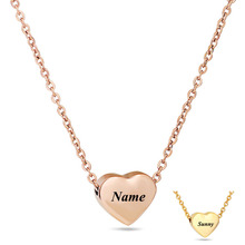Customized Necklace Pendant Stainless Steel Name Necklace Personalized Letter Gold Choker Necklace Pendant Nameplate Jewelry personalized capital letter pendant choker necklace old english font inital nameplate necklace golden color customized jewelry