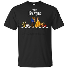 The Beastles Beauty And The Beast Crosswalk T-Shirt Short Sleeve Black Men-Women High Quality Casual Printing Tee Shirt(China)