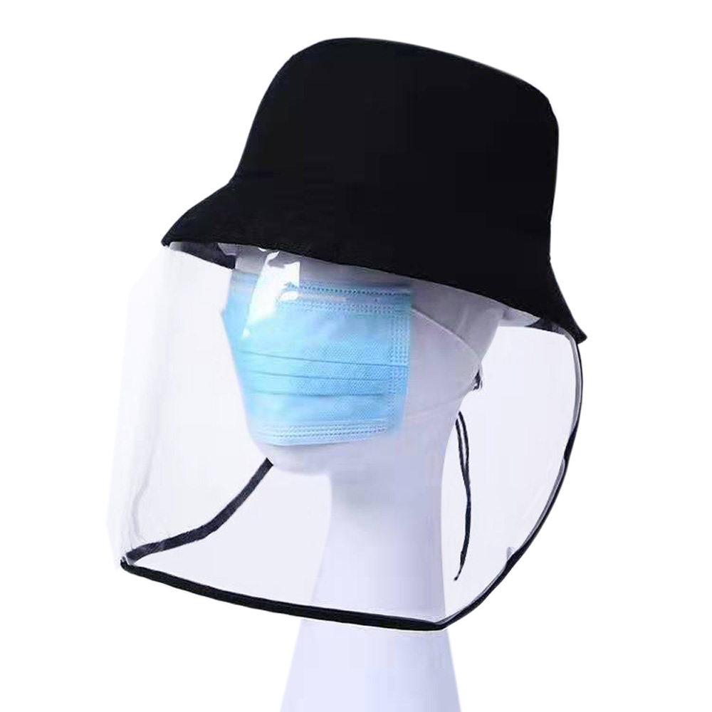 1pc/20pcs Clear Face Cover and Transparent Fisherman Hat to Block the Droplets and Prevent Infection 13