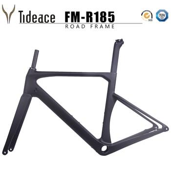 цена на New disc brake carbon road frame 142*12mm UD carbon fiber road bike frame Di2 carbon bicycle frameset disc brake