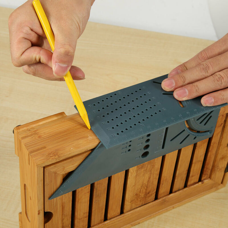 Woodworking 90 Degree Angles Measure Ruler Gauge Ruler 3D Mitre Angle Measuring Square Measure Tool 45 Degree