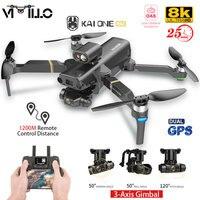 KAIONE MAX GPS Drone 4K Professionelle 8K HD Kamera 5G WIFI FPV Eders 3-Achsen Gimbal bürstenlosen Motor RC Faltbare Quadcopter 1,2 km