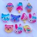 10 Cute Shiny Card Animals, Ice Cream Resin Flat DIY Scrapbook Hair Bow Center Accessories 009