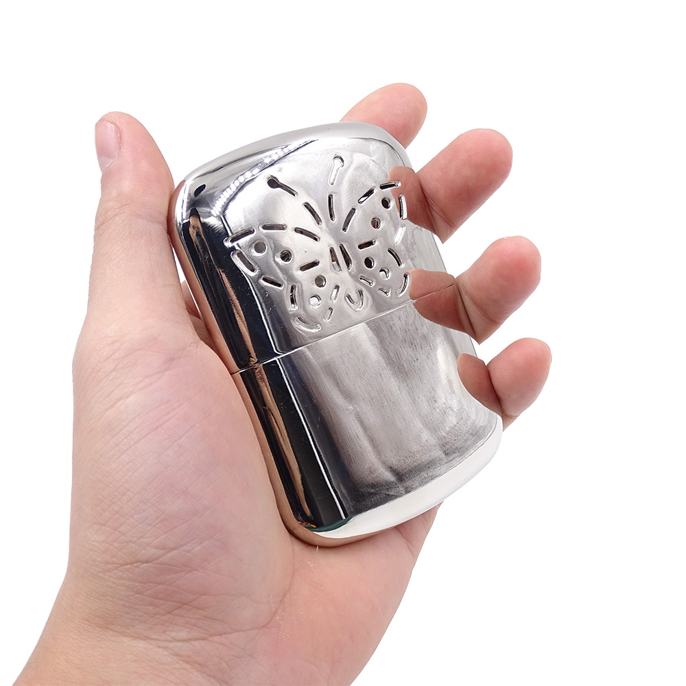 Pocket Hand Warmer Hand Aluminum Portable Hunting Hand Stove Winter Outdoor Camping Hiking Travel Hand Warmer Heater Zippo