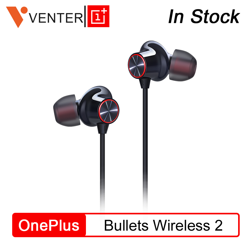 Original OnePlus Bullets Wireless 2 Earphones AptX Hybrid Magnetic Control Google Assistant Fast Charge For Oneplus