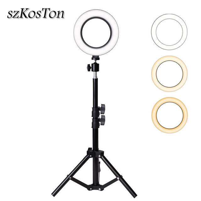 Professional 6 inch LED Ring Light Photo Studio Camera Light Photography Kit Makeup Video Selfie Fill Lamp with Tripod Stand