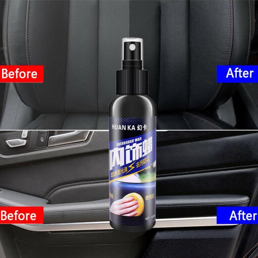 Image 4 - Car Care Interior Polish Leather Seat Sofa Panel Dashboard Tire Cleaner Kit-in Paint Cleaner from Automobiles & Motorcycles