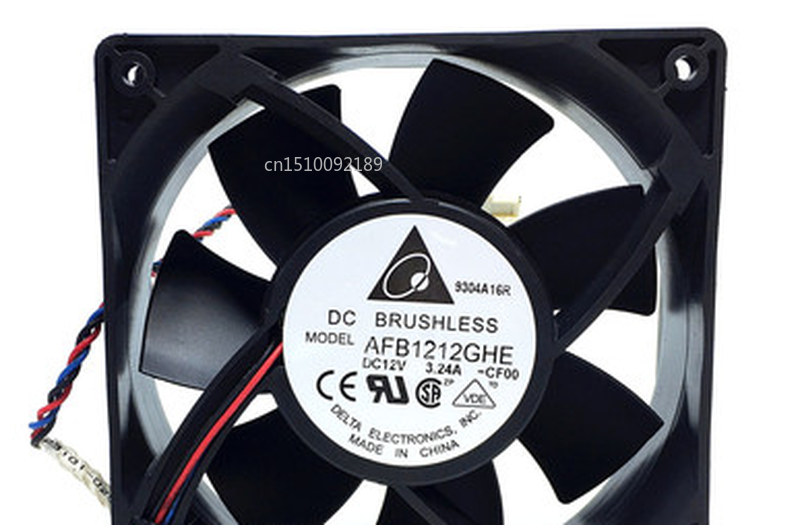 Free Shipping For AFB1212GHE-CF00 120x120x38mm Cooling Fan 240.96 CFM 5200 RPM 62 DBA 3-pin TAC Connector
