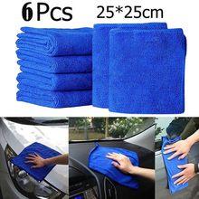 6 uds coche paños de limpieza plumero Toalla de microfibra para lavado de coche Auto Care detallando тряпка для авто полотенце Toalla de microfibra