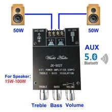 Bluetooth 5.0 subwoofer 50w + 50 tpa3116 equalizador de áudio potência amp tom baixo agudos alta fidelidade estéreo tpa3116d2 aux placa amplificador