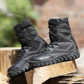 Men Outdoor Military Tactical Boots Breathable Wear Resistant Waterproof Army Boots Climbing Trekking Training Sports Shoes