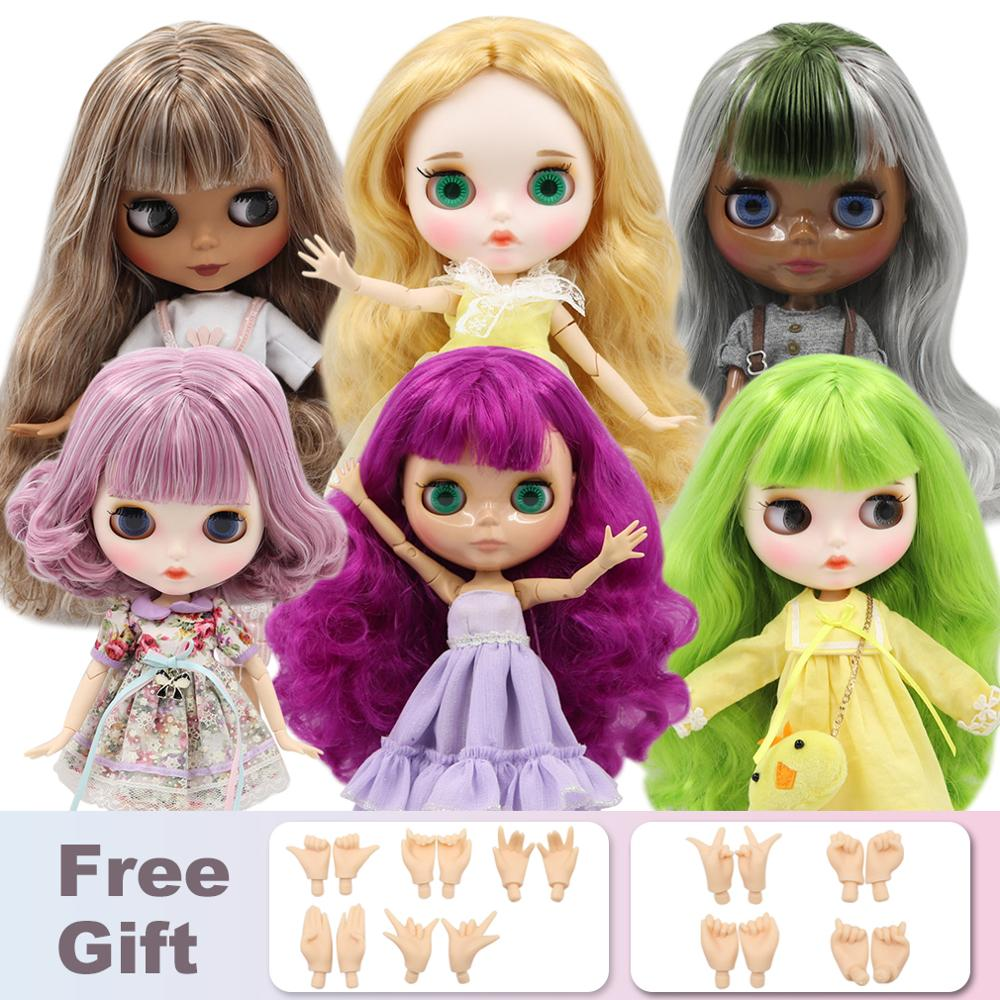 ICY Factory Blyth Doll Nude Joint Body With Hand Set A&B 1/6 BJD Fashion Doll Suitable Diy Makeup Special Price
