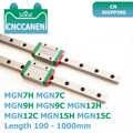 Mgn7 mgn9 mgn12 mgn15 100-1000mm 소형 선형 레일 슬라이드 2 pcs mgn9 선형 가이드 + 2 pcs mgn9h 또는 mgn9c 캐리지 3d 프린터 cnc