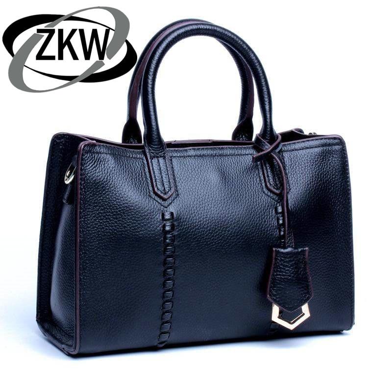 100% 本物の牛革高級マダムデザインハンドバッグクラシックの豪華女性の本革メッセンジャーショルダーバッグエレガントなトートバッグ Pa  グループ上の スーツケース & バッグ からの トップハンドルバッグ の中 1