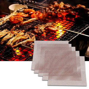 Bbq-Mat Grill Mesh Kitchen-Accessories Fish-Vegetable-Smoking-Pad Teflon Non-Stick Useful