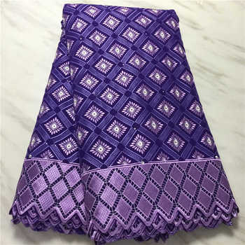 Factory Offers Swisss Voice Lace Fabric High Quality African Dry Cotton Stones for Nigerian Wedding Dresses NN511
