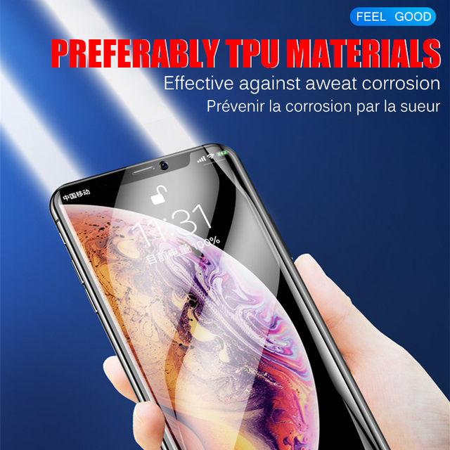 Full Cover Hydrogel Film For iPhone 11 12 Pro XS Max mini Screen Protector For iPhone SE 2020 XR X 7 6 6s 8 Plus Film Not Glass 4