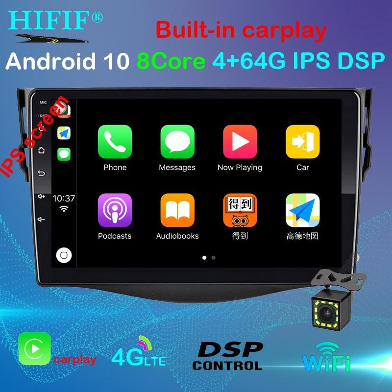 Android 10 автомобильный dvd плеер для Toyota RAV4 Rav 4 2007 2008 2009 2010 2011 2 din 1024*600 gps навигация wifi четырехъядерный Мультимедиаплеер для авто      АлиЭкспресс
