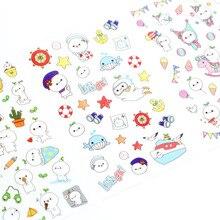 Cute unicorn creative cute pet small ball flat sticker DIY hand account diary album 6 into