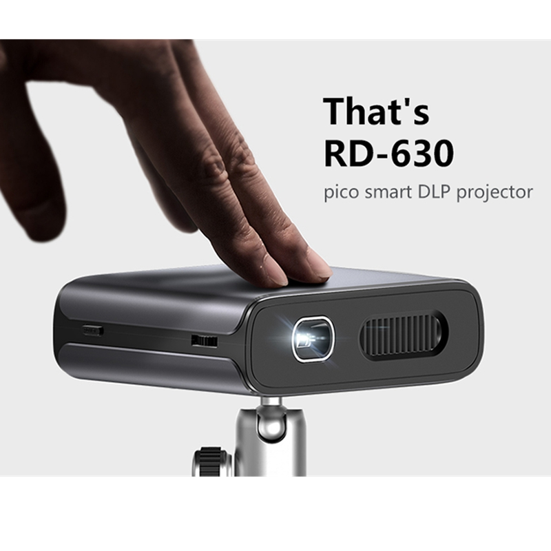 Rigal RD-630 Portable 3D Mini Projector Mobile Power Bank 1000 Lumens 854*480P 1000:1 Built-in Audio 5200mAh HDMI/USB/AUDIO image