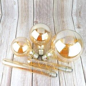 Image 5 - Retro Spiral ışık LED filament ampul 220V A60 ST64 G125 G95 G80 T45 T185 kısılabilir 4W 2200K Vintage lambalar dekoratif aydınlatma