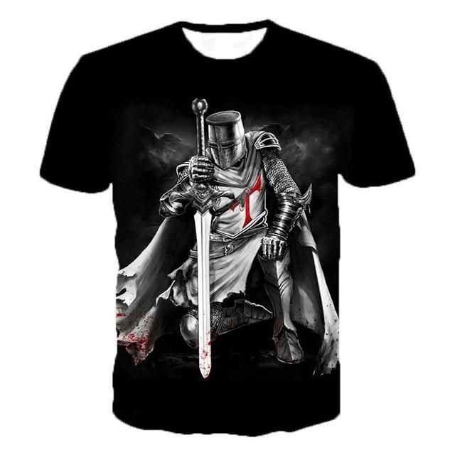 Футболка мужская рыцари темплиеры 2