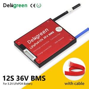 Image 2 - 12S 36V BMS 15A 20A 30A 40A 50A 60A dla 3.2V akumulator litowy 18650 LiFePO4 akumulator ze wspólnym i oddzielnym portem