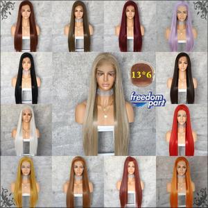 Image 5 - BeautyTown שנהב בלונד 13x6 משלוח חלק Futura ללא סבך עמיד בחום שיער יומי חתונה שכבה סינטטי תחרה מול פאה