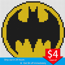50*50 Pixel Art Mosaic Painting Set DIY Marvel Super Heroes Batman Wolverine ICON Portrait Building Blocks toys Creative Gifts цена