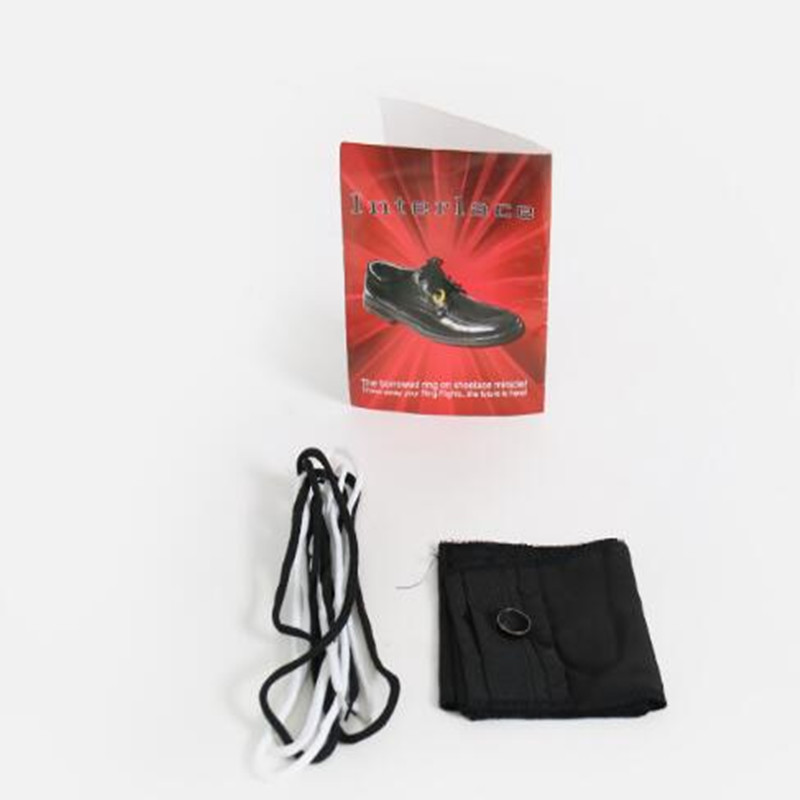 Interlace By <font><b>Richard</b></font> <font><b>Sanders</b></font> (DVD+Gimmick) Magic Tricks Ring Into Shoes Magic Props Visual Magic Effect Magician Toys Illusions image