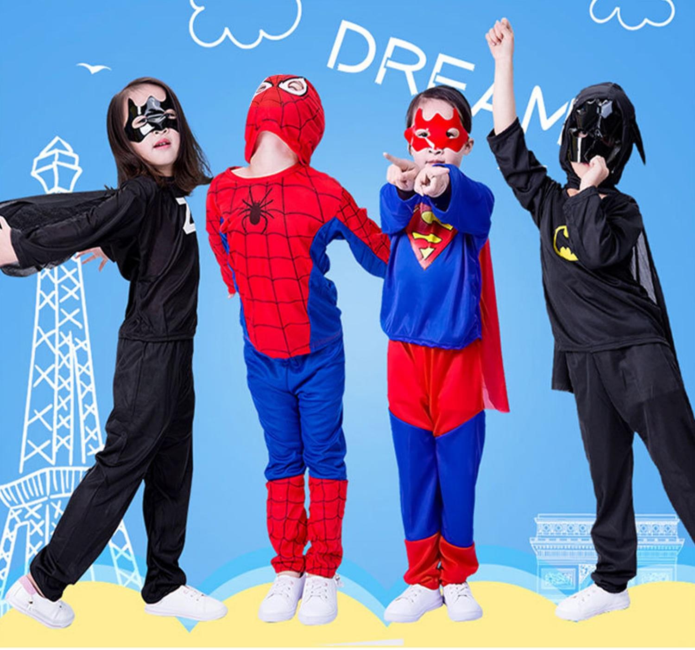 Kids Homecoming Costume Superman Spandex Spider Man The Amazing Cosplay Suit Batman Children Boy