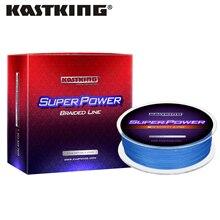 KastKing superpotencia de 300m/500m/1000m hilo de pescar de PE trenzado, 4 hebras, 6 80LB/2,7 36,4 KG, línea multifilamento fuerte para agua salada