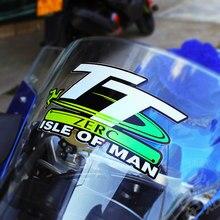 Fita adesiva refletiva para capacete de moto, fita para estilização de automóveis, para tt isle of man 14*7.5, 1 peça cm