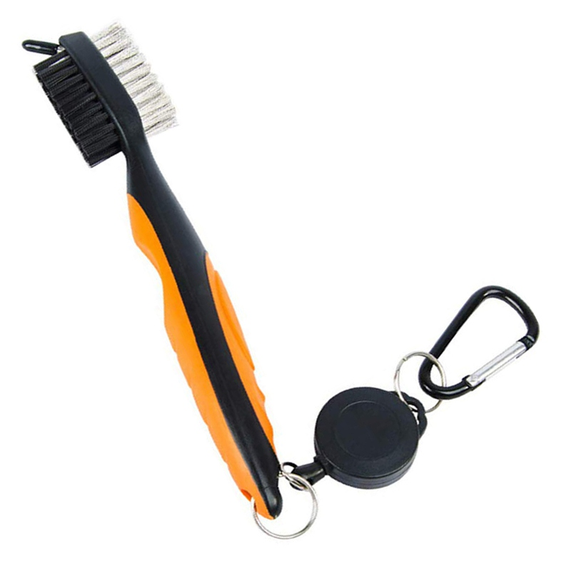 Sport Golf Tools Double-Sided Cleaning Brush Retractable Zipper Wire Groove Cleaning Tool For Sports Golf AccessoriesZi