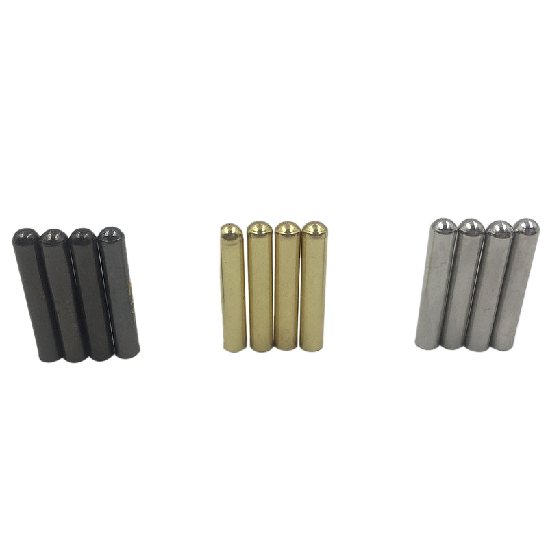 Weiou 4pcs 1 Set Of 3.8x22mm Seamless Metal Shoelaces Tips Ends Replacement Repair Aglets DIY Sneaker Kits Silver Gold Black