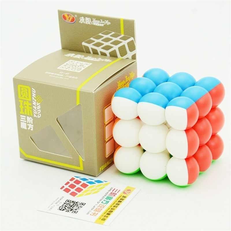 Трехступенчатый магический нео-куб Yongjun с шариком 3x3x3 без наклеек круглые интересные игрушки для детей Волшебный куб Alpinia Oxyphylla