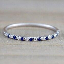 Серебряное сапфировое кольцо, обручальное кольцо из циркона для женщин, обручальное Ювелирное кольцо Anillos Bizuteria bijoux femme anel Ювелирное кольцо