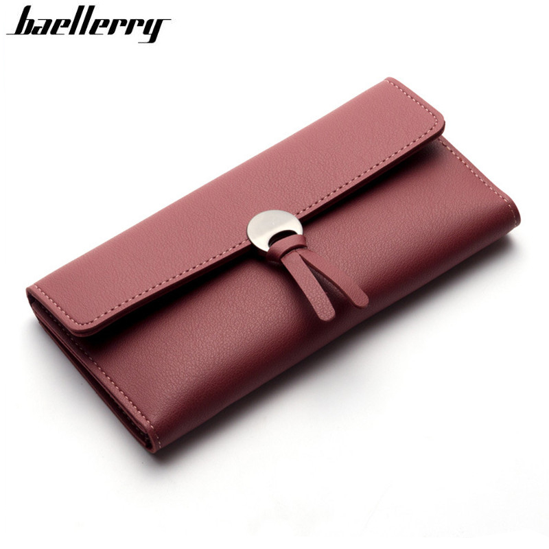 Women Wallet 2019 Leather Long Leisure Wallet For Credit Cards Coin Purse Organizer Clutch Ladies Bag Purses Billeteras Mujer