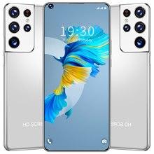 S21 Ultra wersja globalna smartphone 6.8 HD Cal pełny ekran 2GB 32GB smartfon z Dual SIM 4800mAh telefon komórkowy z androidem