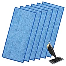 Cloth-Cover Mop-Accessories Wipes Mop-Pad Hand-Tool Wood Blue Reusable 40-6pcs Home
