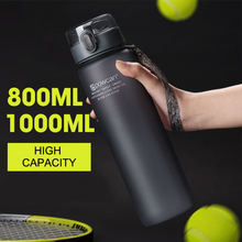 NEW Water Bottle Plastic 800ML 1000ML Drink Outdoor Sport School Leak Proof Seal Gourde Climbing Water Protein Shaker Bottles cheap HILIROOM Adults Water Bottles Eco-Friendly Stocked 50050 Direct Drinking TOUR Not Equipped None In-Stock Items With Rope